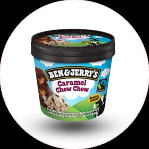 Le take away pizzas à emporter Ploufragan (22) Crème glacée Ben & Jerry's caramel chew chew 150ml