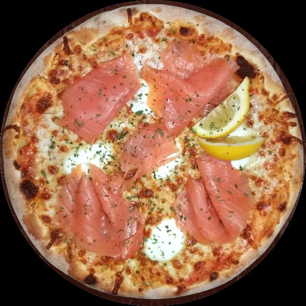 Le Take Away pizzas à emporter à Ploufragan (22) pizza au saumon