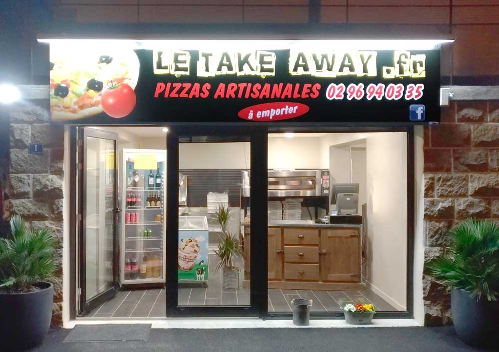 Façade de la pizzeria Le Take Away à Ploufragan (22)