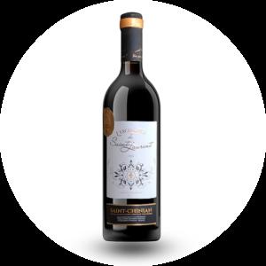 Le take away pizzas à emporter Ploufragan (22) bouteille de vin rouge l'excellence de Saint Laurent